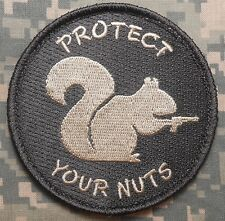 PROTECT YOUR NUTS 2A GUN RIGHTS MORALE ACU LIGHT VELCRO® BRAND FASTENER PATCH
