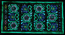 Square Chinese tribal miao hmong machinemade embroidery Blue Dreams
