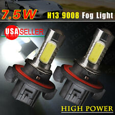 2X White H13 9008 Projector 7.5W COB Fog Daytime Running Light US 12V