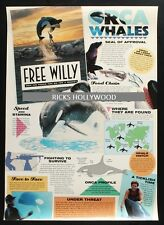 Original 1993 Free Willy Special Orca Killer Whales Poster