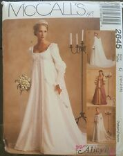 Renaissance Medieval Bridal Gown McCalls Sewing Pattern 2645 Sz 10 12 14 Uncut