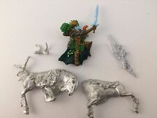 Wood Elf Hero on Stag – Warhammer Wood Elves Army – OOP – Metal