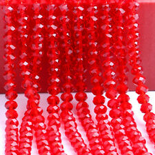 4/6/8/10mm Rondelle Faceted Crystal Glass Loose Beads DIY Findings