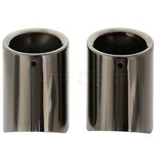 2Pcs Titanium Black Muffler Exhaust Tail Pipe Tip for BMW F10 F18 520li 528li