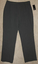 New Jones New York 10P Dress Pants Hazelnut Pinstripe Lined Separate 10 Petite