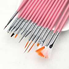 15PCS UV Gel Design Painting Pen Nail Art Brush Set for Salon Manicure DIY Tools