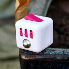 1PCs Stress Relief Focus 6-side Fidget Cube Dice Gift For Adults Gift Rose Red