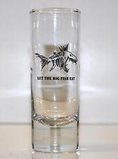 Shot Glass Shooter LET THE BIG FISH EAT (scary fish with big sharp teeth)
