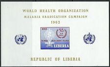 Liberia-lotta contro la malaria post fresco 1962 blocco 24 MER. 583
