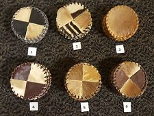 Handmade Cowhide Leather Coasters from Africa (Swaziland) - sets of 6