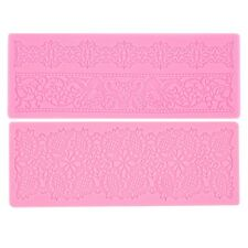 Lace Silicone Fondant Embossing Mold Cake Gum Paste Decorating DIY Mould FE
