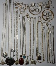 925 Sterling silver jewelry lot not scrap 300 Grams  Vintage estate #61