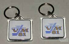 Lot Of 2 World Hockey Championships 1981 Keychains