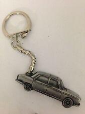 Peugeot 404 Saloon ref174 Pewter Effect 3D Car on a snake keyring
