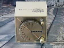 Vintage Sony TFM-1837W FM Cube Radio Works Tested Transistor 8 Stereo