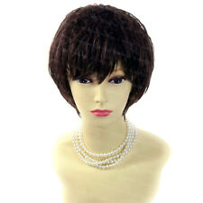 POSH Summer Style Curly Short  Wig Black Brown & Red  Ladies Wigs from WIWIGS UK