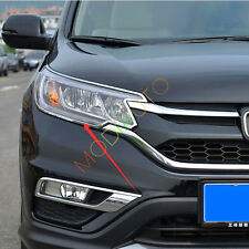 For Honda CRV CR-V 2015 2016 Chrome Front Headlights Head light lamp Cover Trim
