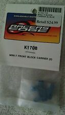 New Losi Mini T Blue Aluminum Front Block Carriers Desert Baja Buggy SCT Hub