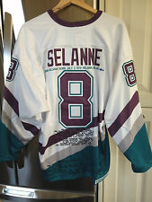 Anaheim  Mighty Ducks  Teemu Selanne Tribute Jersey sz52
