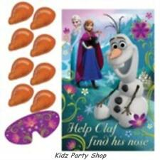Disney Frozen Birthday Party - Pin the Nose on Olaf Game for 8 - Free Post in UK
