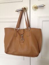 Miu Miu Brown Leather Large Tote Handbag