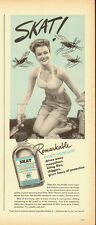 1940's Vintage ad for SKAT insect repellent/Lady in a bathing suit (050313)