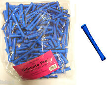 "Concave Hair Perm Rod  w/ elastic band  1 LB BAG, 3"" Long Blue     LMS"