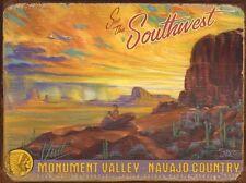 Visit Monument Valley (Enameled Steel Sign)