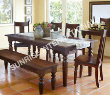 Shaker Wooden Dining table with 4 chairs & 1 bench set