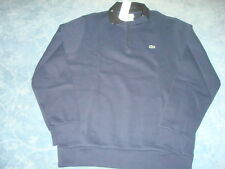 LACOSTE 1/2 ZIPPER NAVY BLUE SWEATER WITH SIDE POCKETS LG/6