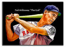 ACEO TED WILLIAMS ( THE KID ) BRS 14/20 ART SKETCH CARD LIMITED ARTIST SIGNED