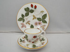WEDGWOOD MINIATURE TEA/COFFEE TRIO-  WILD STRAWBERRY PATTERN 1st QUALITY