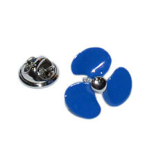 Blue Ships Propeller Lapel Pin Badge Boat Ship Sailing Propelled Navy Badges New