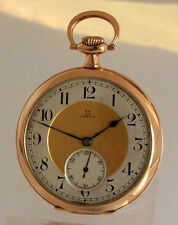 Bildschöne OMEGA ANTIKE 14K GOLD TASCHENUHR ca.1920 OF swiss POCKET WATCH