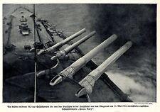 """Schiffsgeschütze der bei Skagerrak am 31.Mai 1916 versenkten """"Queen Mary"""""""