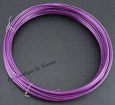 6 M DE FIL ALUMINIUM METAL VIOLET Ø 1,5 mm - CREATION BIJOUX PERLES