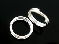 100 pcs Silver plated double Loops Open Jump Split Rings Jewellery Connector 8mm