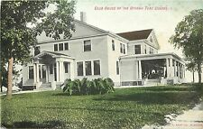Vintage Postcard Club House oof the Ottawa Tent Colony Tuberculosis Treatment IL