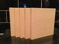 5 High Quality MEDITE MDF 18mm Freestanding Blank Wooden Plaque Blocks 6x6""