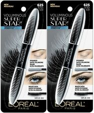 (2) WATERPROOF Sealed Loreal Voluminous Super Star Mascara, 625 Black!