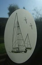 YACHT Vinyl Window Decoration / Window Film / Static Cling 53x84cm / 21x33""