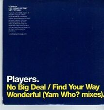 (DA320) Players, No Big Deal - 2006 DJ CD