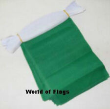 PLAIN GREEN FLAG BUNTING 9m 30 Polyester Fabric Party Flags