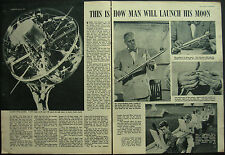 First US Satellite Next Year In Space Dr Lloyd Berkner 1957 3 Page Photo Article
