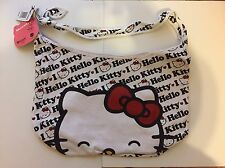 HELLO KITTY ALL OVER HOBO WHITE W/ RED BOW
