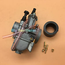 26mm KOSO PWK Power Jet Carburetor Carb Flat Slide Dirt Pit Bike ATV Buggy Kart