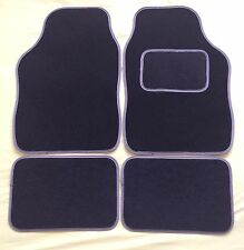 CAR FLOOR MATS FOR MINI COOPER CLUBMAN ONE FIRST S - BLACK WITH GREY TRIM