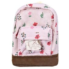 Kawaii Canvas Mini Floral Backpack Women Girls Kids Boy Pencil Bag Coin Pouch