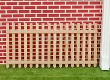 Single Natural Finish Picket Fence Dolls House Miniature Garden Accessory