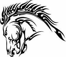 Horse Head Tribal Wall Art Vinyl Sticker decal window Wiccan Pagan new age